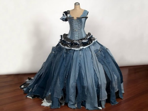 Or I could compromise and wear a dress made out of jeans....