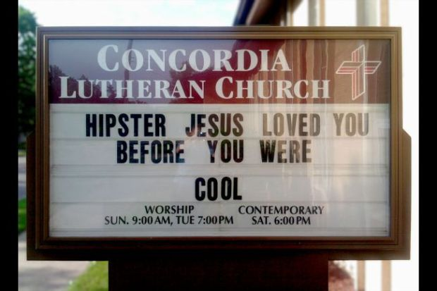 We're called to love the pastor who thought putting cheesy slogans on church signs was a good idea.