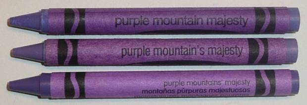 I thought this was the best crayon color ever just because of the name.