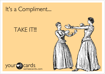 Image result for accepting a compliment