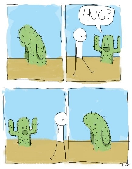 I would make a pretty terrible cactus.