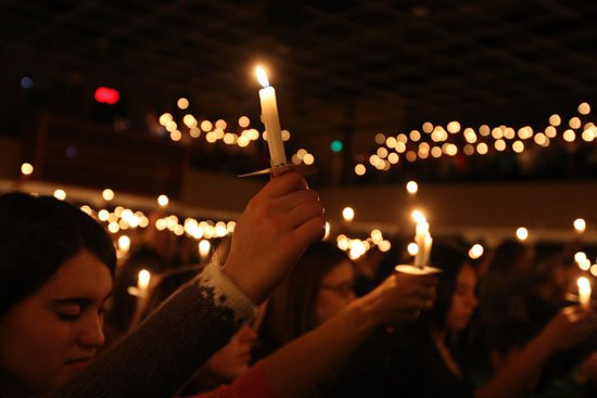 Taylor University's annual Candle and Carols chapel