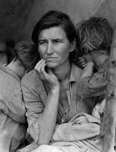 For some reason, this famous Dust Bowl photograph is how I always picture Hagar.