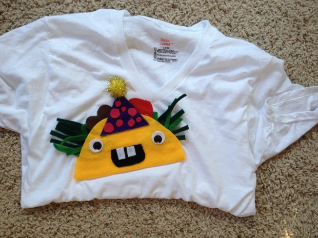 Have you never seen a taco T-shirt for a taco birthday party before? (Clearly, your friends are not as cool as mine.)